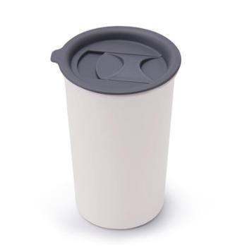sohome大咖暖手珐琅咖啡杯不锈钢双层杯搪瓷杯办公杯保温随手杯400mlC511-40