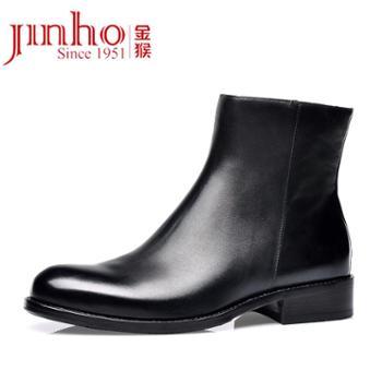 金猴(JINHOU)冬季功勋鞋薄绒内里男棉鞋经典时尚男短靴J8001A3