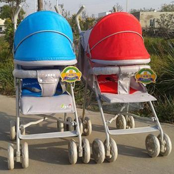 "S812全蓬布""爱尔宝贝""婴幼儿童车系列/伞柄推车/手推车/双胞胎推车"
