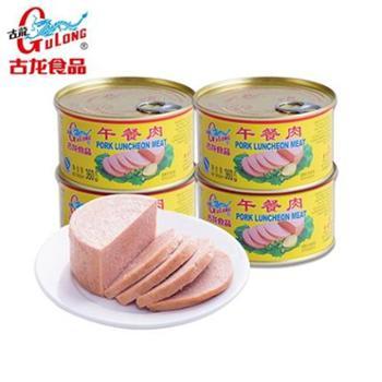 【古龙食品】午餐肉360g*4罐组合装(福建厦门罐头火腿香肠火锅冒菜速食食品特产美食)