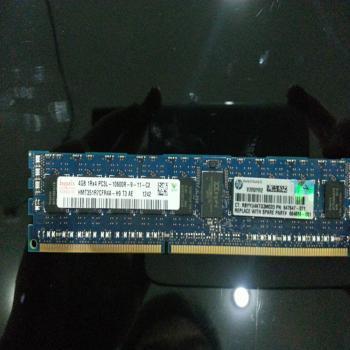 HP 4GB 1RX4 PC3L 10600R 服务器内存