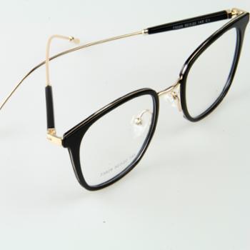 近视配镜艾仕力男女复古金属TR混合眼镜架(4色可选)73029