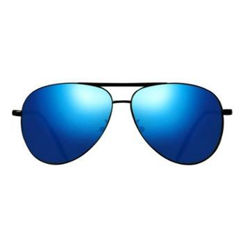 时光一百飞行员系列 男款时尚经典反光彩膜太阳镜 TSGL001