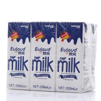 【中粮我买网】SUNSIDES上质 EULAUD欧岚 全脂牛奶200mL*6(德国原装进口)