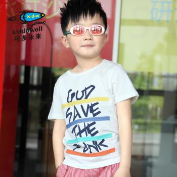 2013夏装新款儿童纯棉短袖T恤男童韩版休闲卡通字母印花T恤