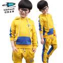 可多未来童装 新款时尚拼接男童两件套韩版套装