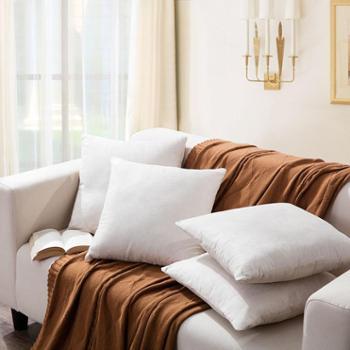 罗莱家纺 素色麂皮绒靠垫 抱枕