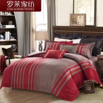 罗莱家纺床上用品全棉纯棉贡缎床单四件套件被套DY5625