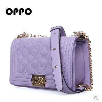 OPPO包包女包欧美时尚糖果链条单肩包斜跨包 新款11181