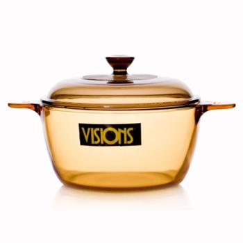 VISIONS康宁晶彩透明锅玻璃锅VS-2.5/R/CN2.5公升深锅汤锅防烫