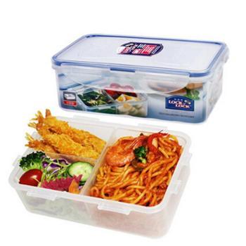 乐扣乐扣保鲜盒HPL817C1L微波炉饭盒塑料密封餐盒分隔便当盒