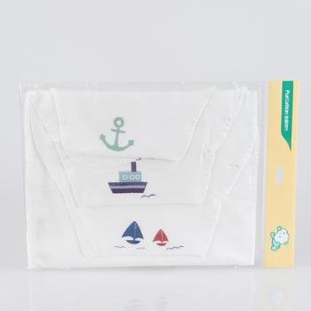 全棉时代婴儿吸汗巾隔汗巾纯棉垫背巾垫汗纱布3条装