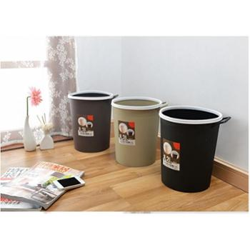 宏月 垃圾桶 简约卫生桶 创意欧式加厚厨房客厅卫生间垃圾桶 手提8.2L