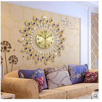 久久达装饰钟表挂钟客厅大现代欧式创意个性艺术时钟简约静音石英钟表