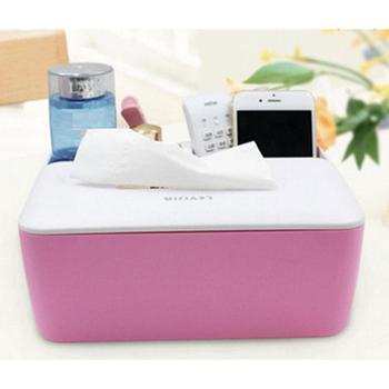 创意桌面纸巾盒 茶几客厅遥控器收纳盒 厕所多功能塑料简约抽纸盒 颜色随机