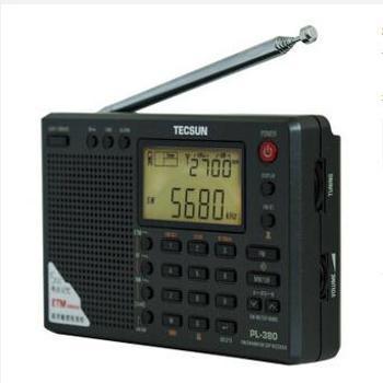 德生(Tecsun)PL-380半导体全波段校园广播四六级英语听力高考考试收音机 (黑色)
