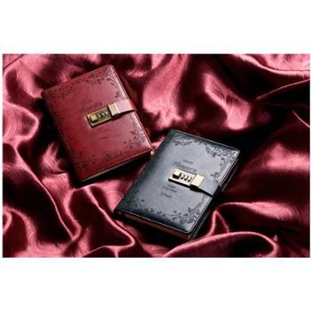 CAGIE/卡杰复古密码本带锁日记本商务创意手账本记事本文具笔记本子手帐本