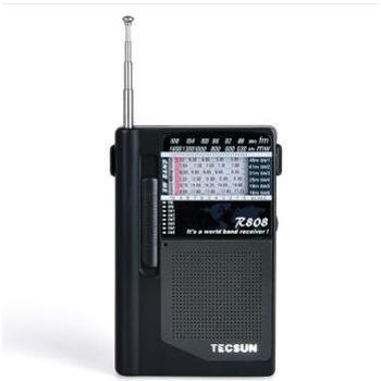 德生(Tecsun)R-808 袖珍型全波段收音机 老人半导体 黑色