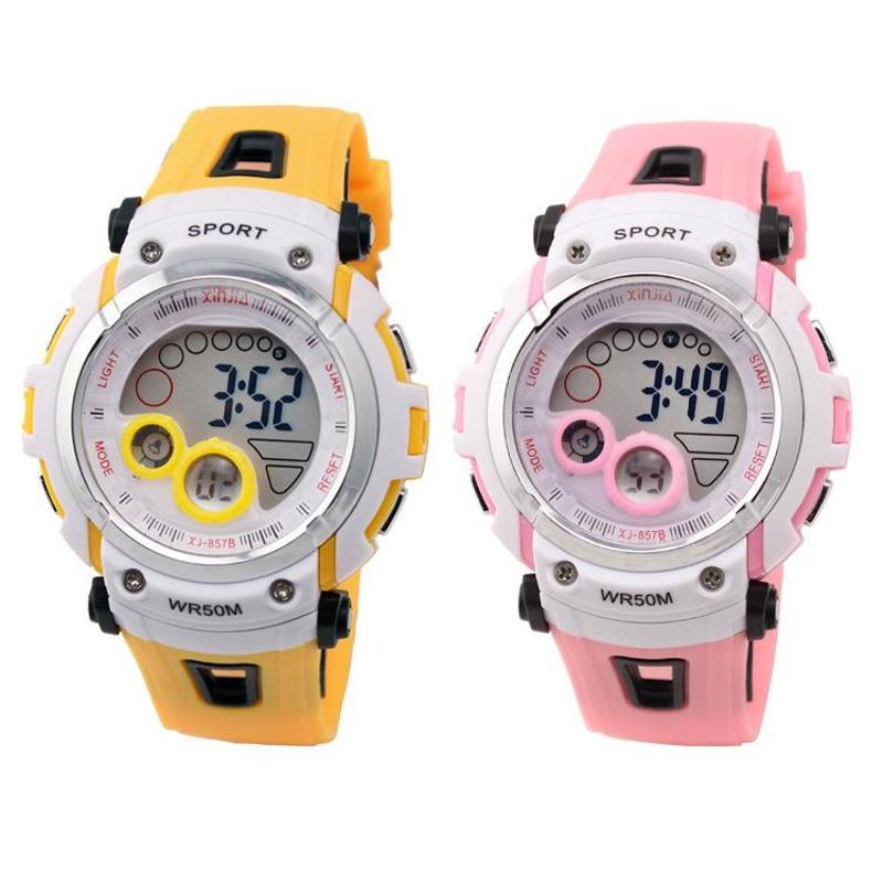 儿童手表防水女孩手表运动男孩手表潜水运动游泳表多