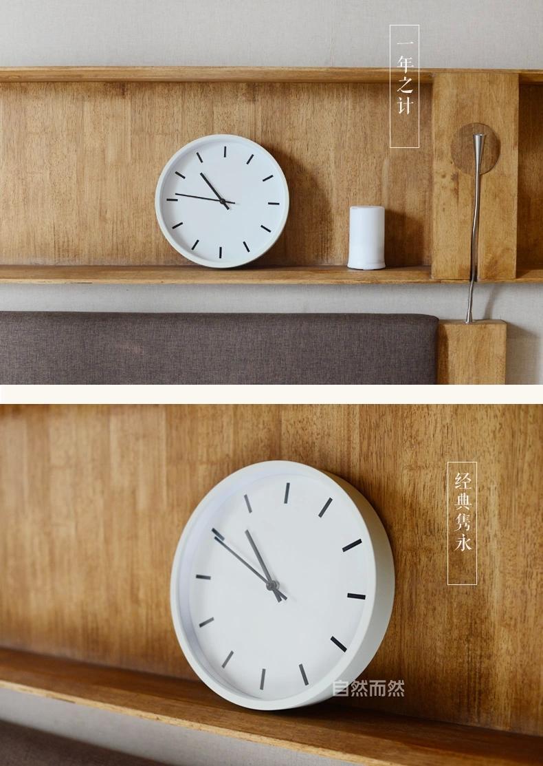 精工机芯静音简约挂钟创意客厅时钟 无印良品风格 包邮