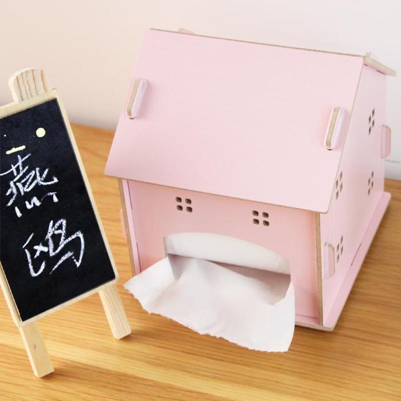 燕鸥 时尚可爱创意收纳盒 小房子纸巾盒 可爱创意抽纸盒