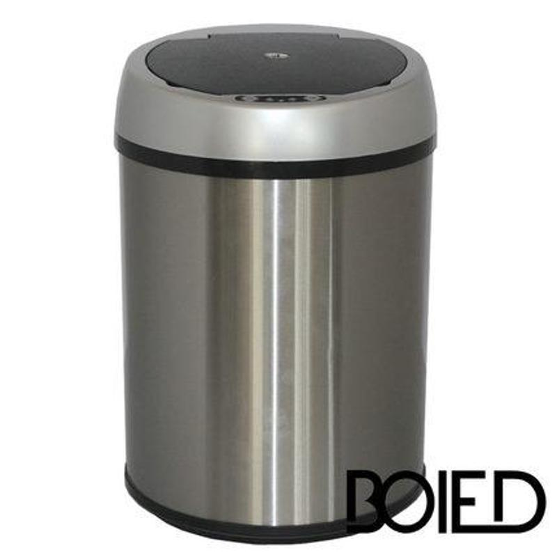 boied智能感应垃圾桶家用欧式客厅厨房不锈钢卫生间创意时尚防水9l&