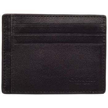 COACH蔻驰男女款皮革卡包卡套证件包工作证75022免息分期购