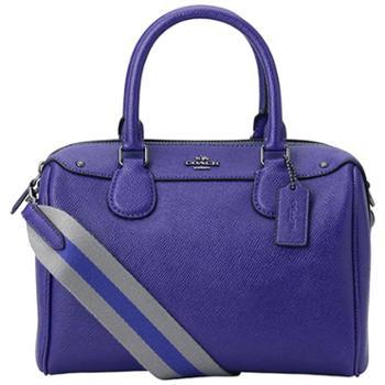 蔻驰(COACH)女包 女士单肩包 斜挎包 手提包 波士顿包 F11808 紫色(QB/PX)