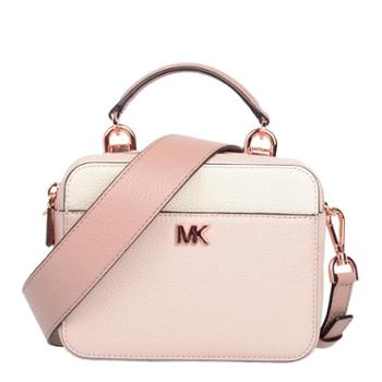 MICHAEL KORS 迈克.科尔斯 MK 女包 女士小方包 单肩包 斜挎包 手提包 32T8TF5C0T 粉色