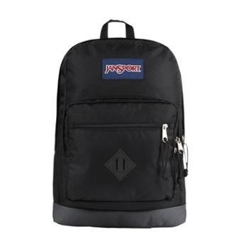 【12期免息】JANSPORT 杰斯伯 男女款双肩背包校园休闲包书包T29A008城市童子軍 藍標 黑