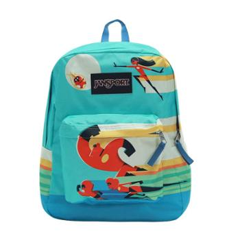 【12期免息】JANSPORT 杰斯伯 男女款双肩背包校园休闲包书包 3P1F52V超人多彩色