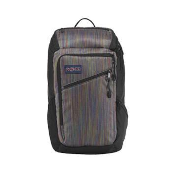 【12期免息】JANSPORT杰斯伯男女款双肩背包校园休闲包书包3C2W45U多彩线条