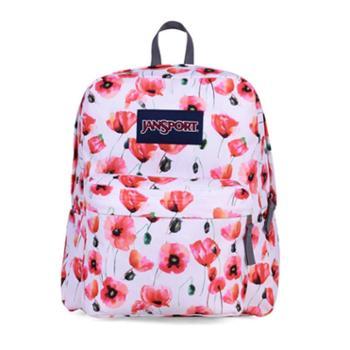 【12期免息】JANSPORT 杰斯伯 男女款双肩背包校园休闲包书包 TDH70XJ无辜粉嫩花
