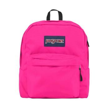 【12期免息】JANSPORT 杰斯伯 男女款双肩背包校园休闲包书包 TDH701B網路粉紅