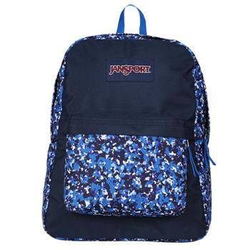 【12期免息】JANSPORT 杰斯伯 男女款双肩背包校园休闲包书包 T50140C飞溅的迷彩服