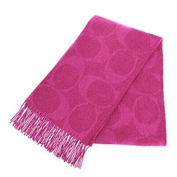 蔻驰(COACH)女士羊毛围巾 F77673 紫红色(FUS)