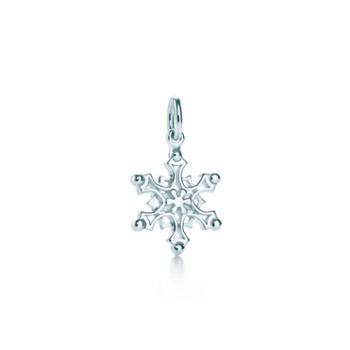 蒂芙尼(Tiffany & Co.)女款简洁雪花吊坠 25185412(无项链)