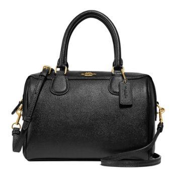 蔻驰(COACH)女包 女士小号波士顿包 单肩包 斜挎包 手提包 F32202 黑色(IMBLK)