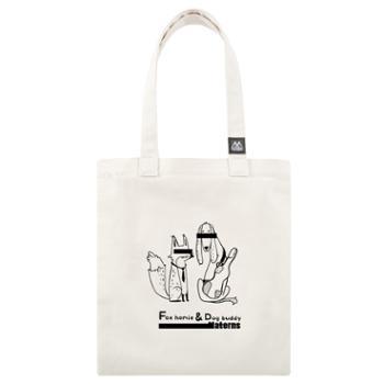 玛汀斯 狐朋狗友 购物袋 单肩包 手提包 帆布包 标准款M7499W