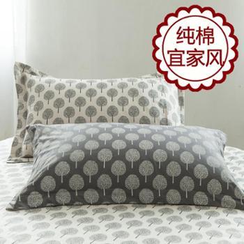 舒适家宜家风格13372高支全棉单品枕套