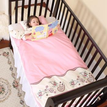 龙之涵纯棉绣花婴儿被式睡袋宝宝四季防踢被80*120双胆