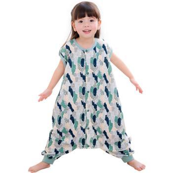 龙之涵婴儿睡袋夏季薄款宝宝夏天空调房防踢被儿童分腿睡袋四季全棉