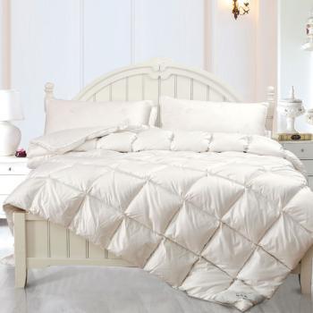 新靓家纺床上用品冬被羽绒被100%白鹅绒被