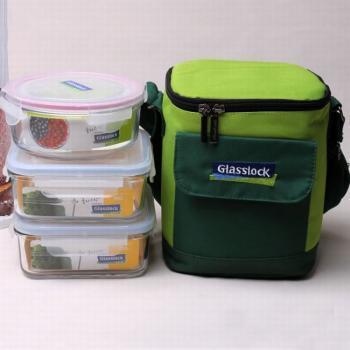 韩国三光云彩GLASSLOCK玻璃饭盒微波炉保鲜盒套装买就送