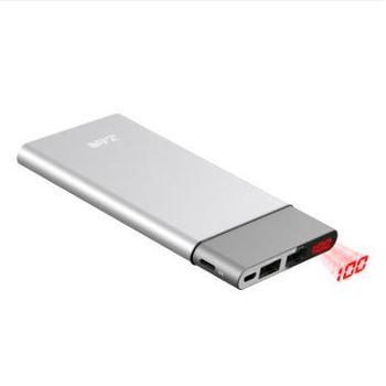 台电(Teclast)10000毫安超薄聚合物智能数显带lightning接口移动电源/充电宝 全金属银色