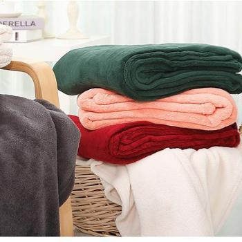 凯诗风尚毛毯加厚舒适珊瑚绒毯子盖毯膝毯午睡毯颜色随机颜色随机100*120cm
