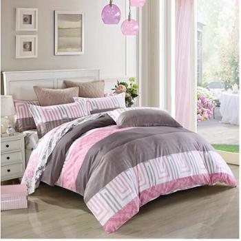恒源祥家纺 四件套 纯棉 全棉斜纹印花被罩 全棉被套床单 多款可选1.8米床/被套220*240cm