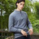 妙客男士新款纯羊绒衫半高领毛衣拉链羊绒衫针织衫毛衣