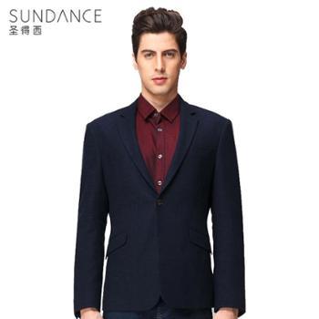 圣得西2017春季新品商务休闲羊毛西服外套男士修身时尚绅士西装