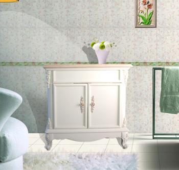高档进口金线米黄天然大理石正品大浴室柜落地包邮